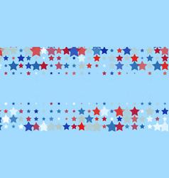 Red blue white stars on light blue vector