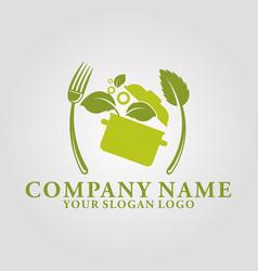 restaurant leaf logo 6 vector image