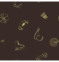 Seamless background with sport icons vector image