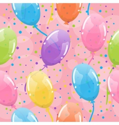 Seamless balloons background vector image