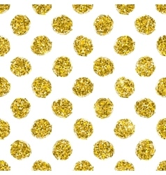 Seamless pattern gold polka dot vector image