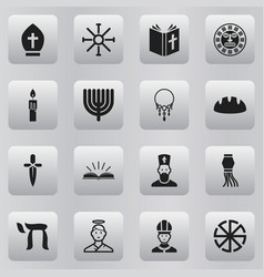 set of 16 editable dyne icons includes symbols vector image
