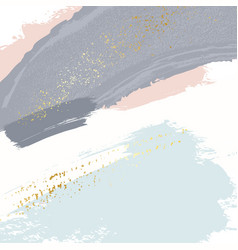 Sparkled glittern golden splashes on pastel navy vector