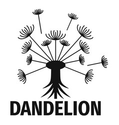 Spring dandelion logo icon simple style vector