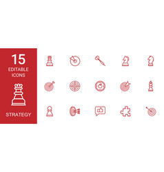 strategy icons vector image