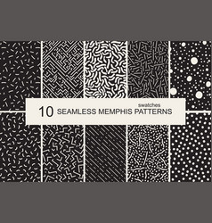 swatches memphis patterns - seamless retro vector image vector image