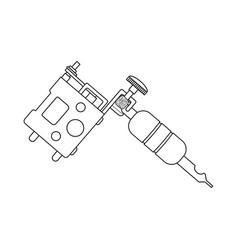 Tattoo machine linear drawing vector