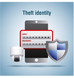 theft identity security access protection login vector image