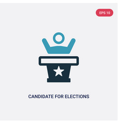 Two color candidate for elections icon from vector