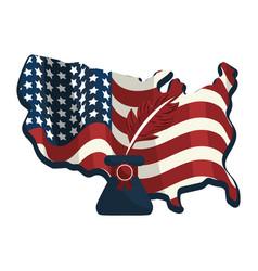 United states flag design vector