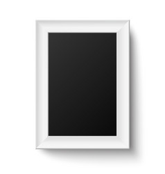 Vertical white A4 wooden frame vector