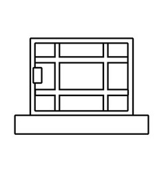 window house isolated vector image
