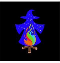 Wizards magic vector