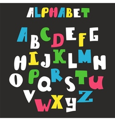 alphabet isolated on black background Hand drawn vector image vector image