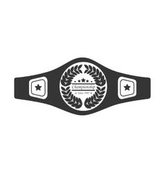 Belt boxing sport championship vector