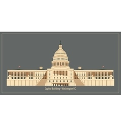 Capitol Building in Washington DC vector image
