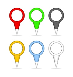 Colorful pointers for the map vector image