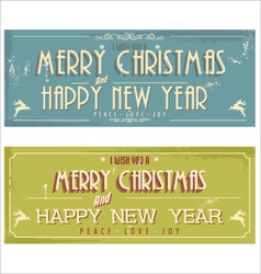 Happy New Year and Merry Christmas vector image vector image