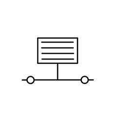 Information transfer process icon vector