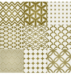 seamless gold pattern vector image vector image
