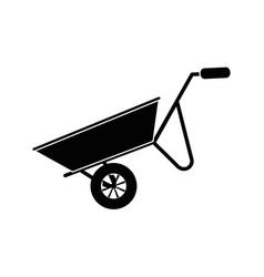 wheelbarrow construction tool vector image vector image