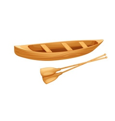Canoe on white vector image vector image
