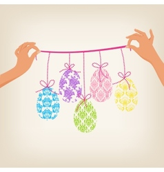 Cute Easter Garland vector image