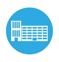 emblem city school building line sticker vector image vector image