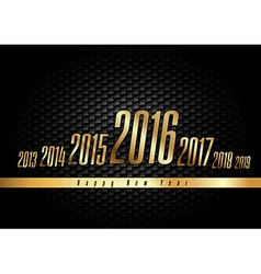 Golden New Year 2016 vector image