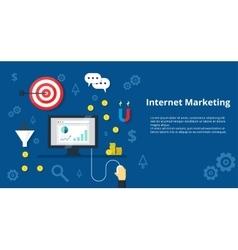 Internet Marketing Banner Flat design vector image vector image