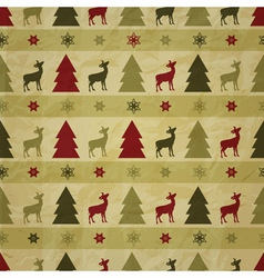 seamless christmas winter pattern vector image vector image