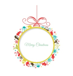 Christmas ball with space for text vector image vector image