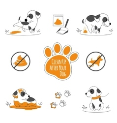 Clean up after your dog vector image vector image