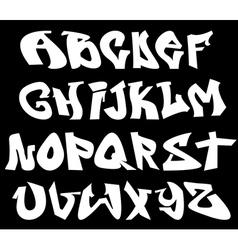 Graffiti font alphabet letters vector image vector image