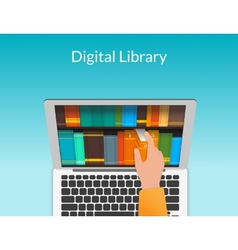 Man chooses eBooks vector image