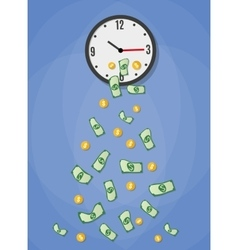 money drop from watch vector image vector image