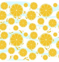 Oranges slices seamless pattern splash vector image