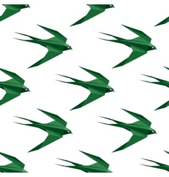 Origami swallow seamless pattern vector image