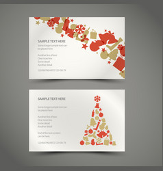 set of christmas new year cards vector image vector image