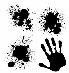 splats and hand vector image vector image