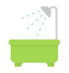 bath flat icon furniture and interior vector image