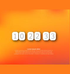 countdown timer clock counter vector image