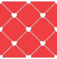 Seamless love background with hearts vector image