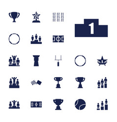 22 championship icons vector