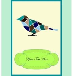 A nice bird vector image