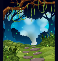 a tropical rainforest background vector image