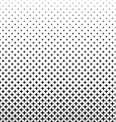 Abstract black and white thorn pattern background vector