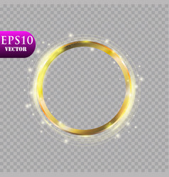 Abstract luxury golden ring on transparent vector