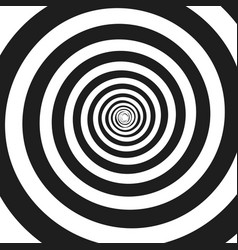 Abstract monochrome spiral vector