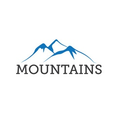 abstract mountains design template vector image
